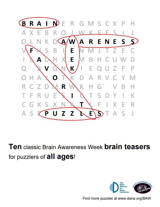Brain Awareness Week Favorite Puzzles