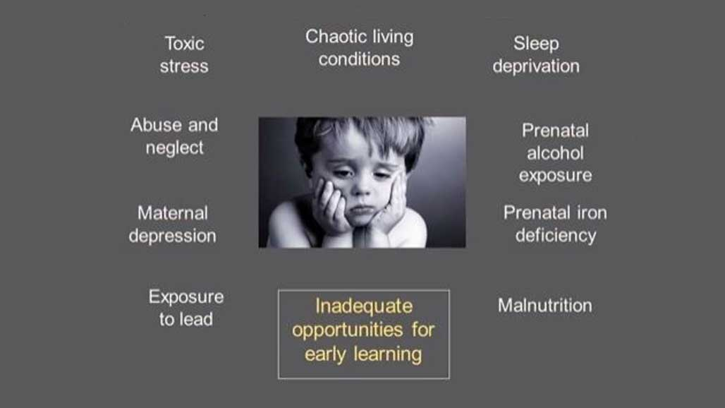slide listing detriments to early learning