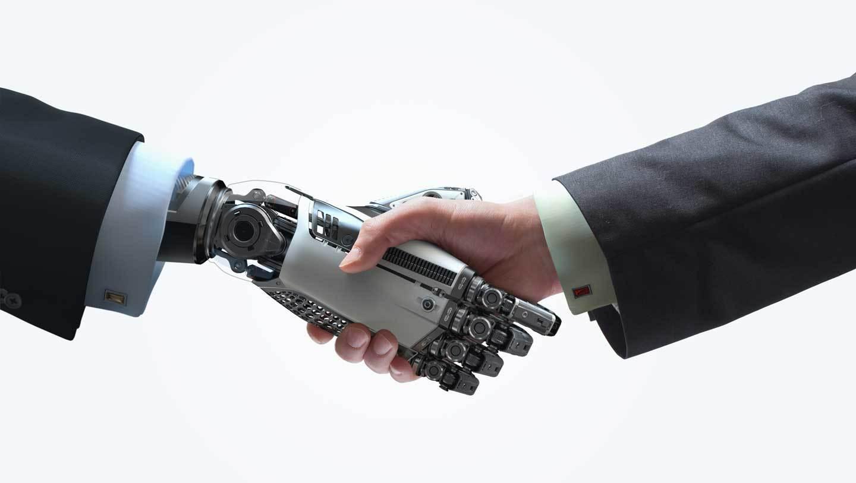 human-robot shaking hands