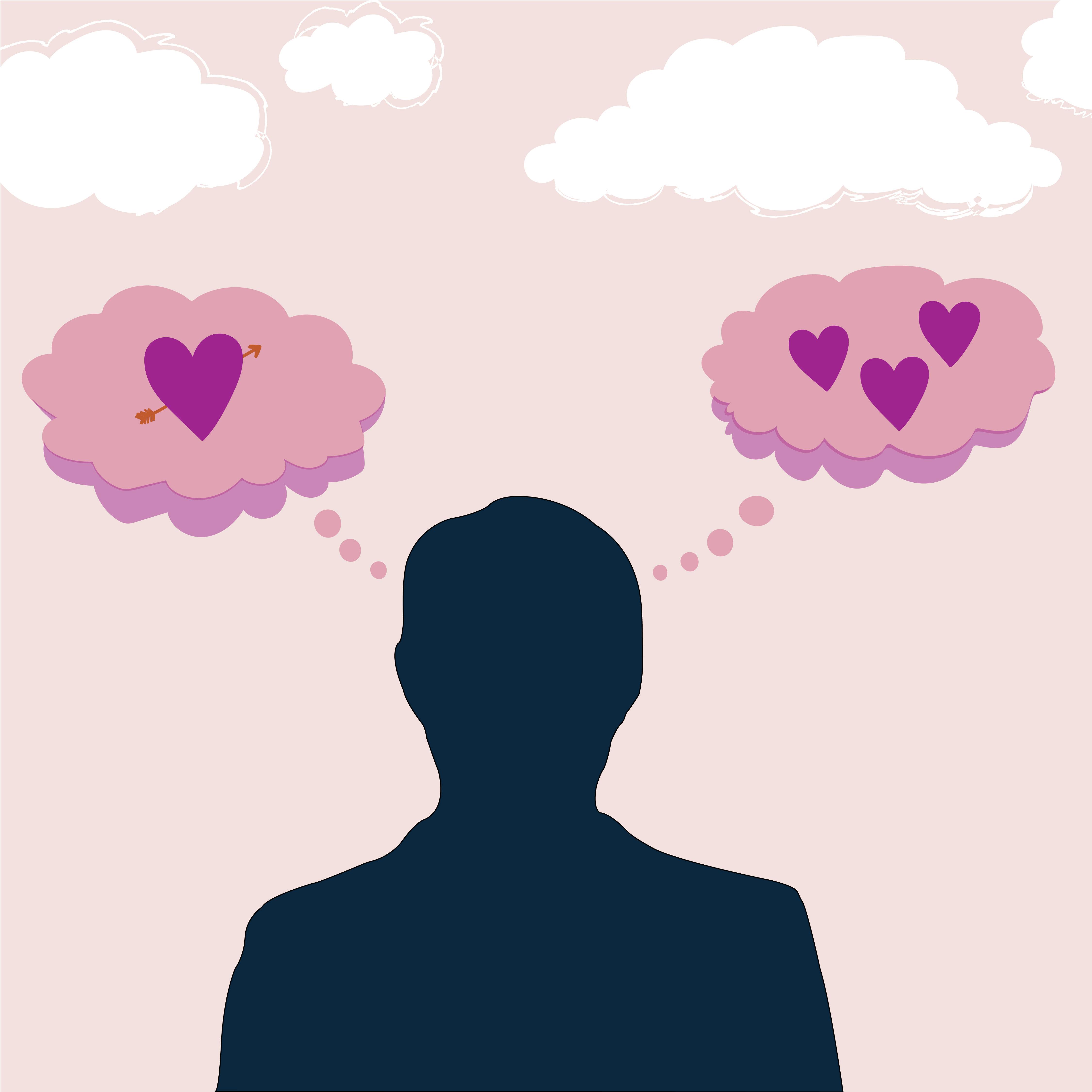 romantic thoughts cartoon