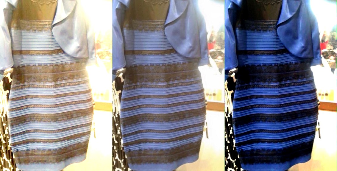dress that seems to change color in different light