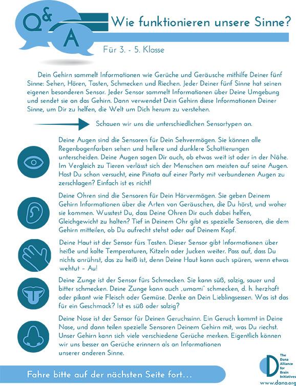 How Do the Senses Work? Grades 3-5 (German)