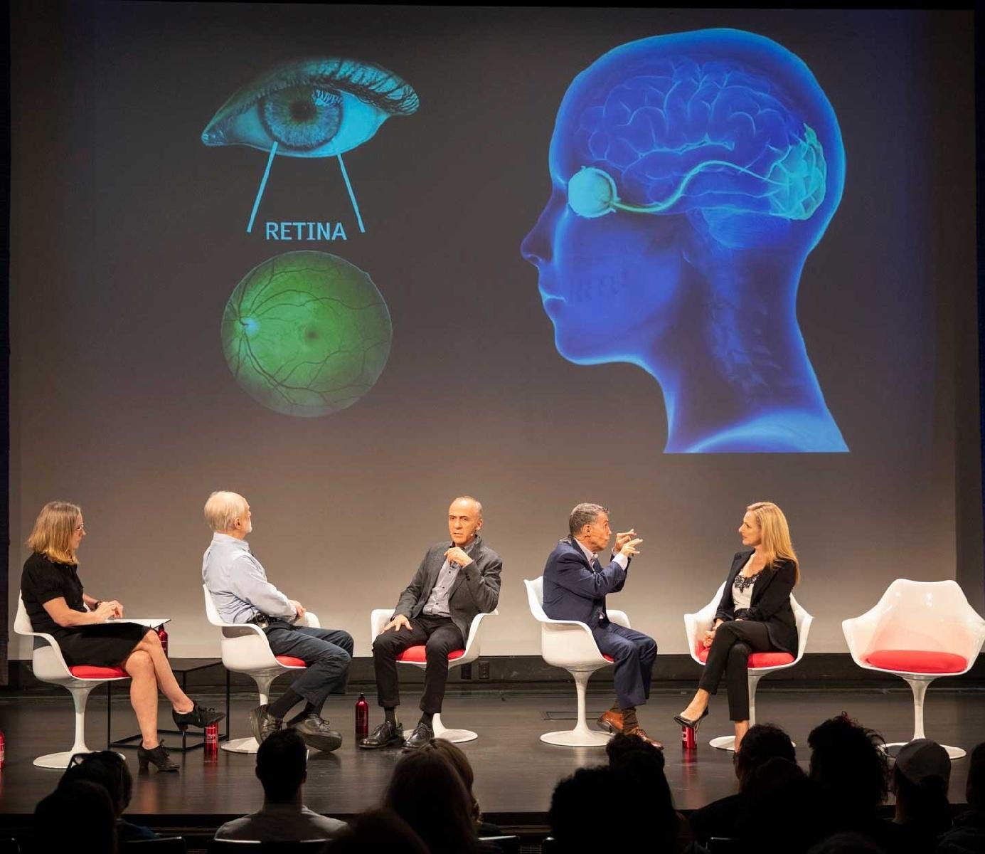 panelists on stage