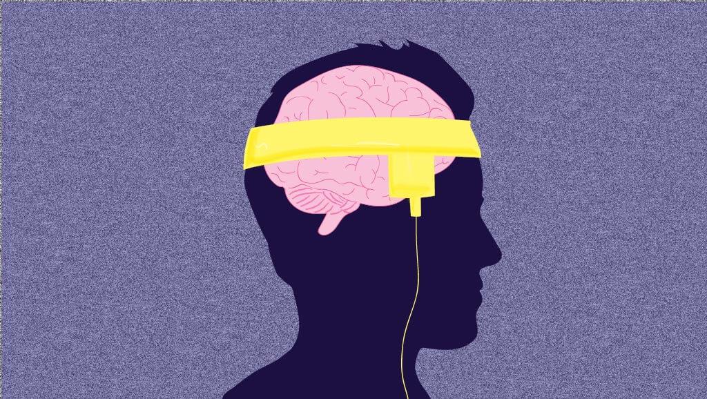 cartoon cutout stimulator wrapped around head