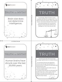 Truth or Myth Flash Cards – B/W